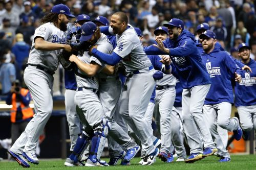 Dodgers whip Brewers in Game 7 to advance to the World Series
