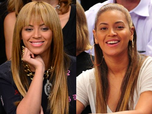 What 18 celebrities look like with and without bangs