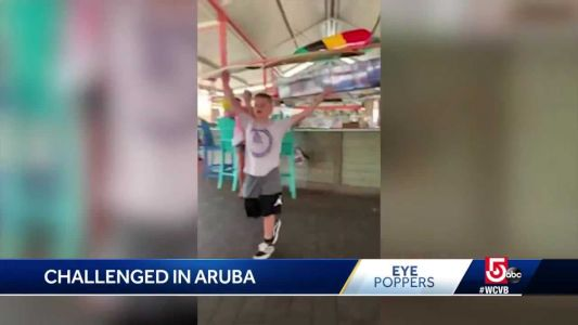 Local gymnast steps up to the challenge in Aruba restaurant