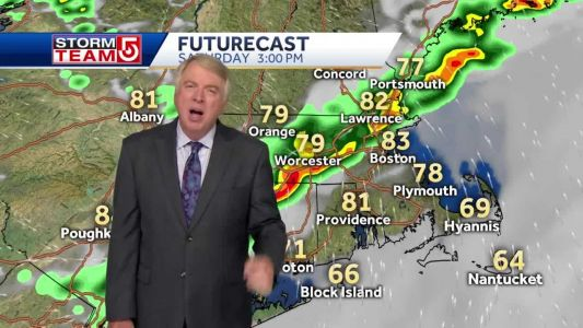 Video: Showers, storms likely Saturday