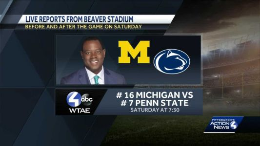 Big Ten clash as No. 16 Michigan visits No. 7 Penn State; ESPN College GameDay at Beaver Stadium