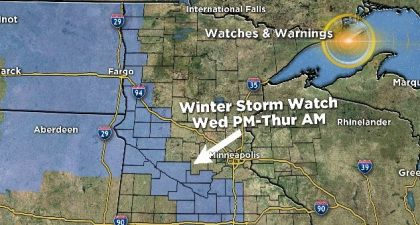 Blizzard Conditions In Store For Parts Of Minnesota