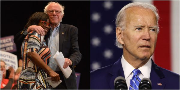 A Bernie Sanders campaign co-chair says choosing between Trump and Biden is like having 'a bowl of s-- in front of you, and all you've got to do is eat half of it'