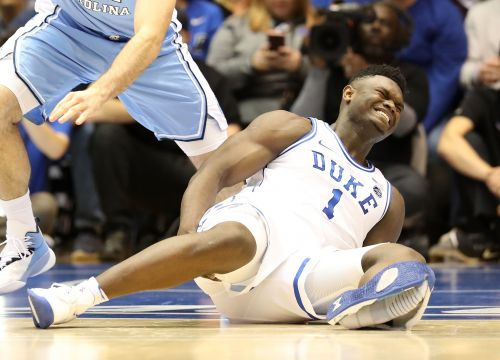 College basketball star injured after Nike shoe blows out in incident that stunned spectators