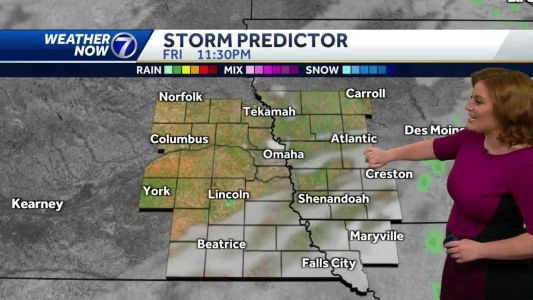 Lingering morning showers, more mild Friday afternoon