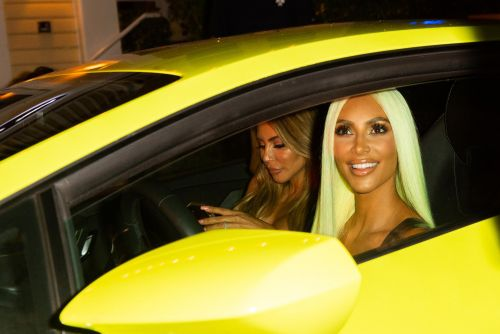 Kim Kardashian gets neon-green Lamborghini to match her hair