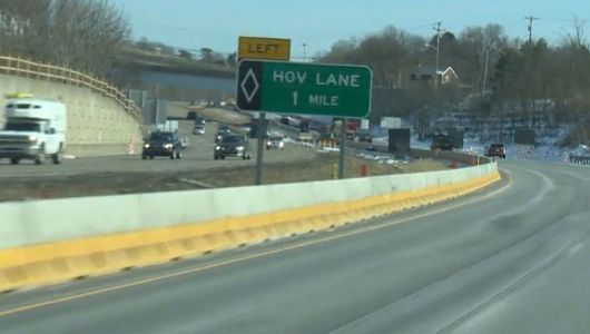 HOV lanes reopen after snow removal