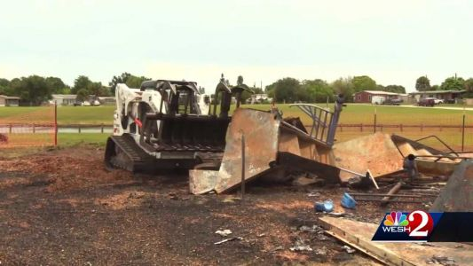Fire destroys Palm Bay playground, melts play structures