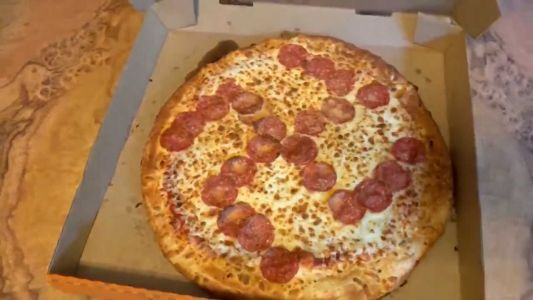 An Ohio couple says they received a pizza from Little Caesars with a pepperoni swastika on it
