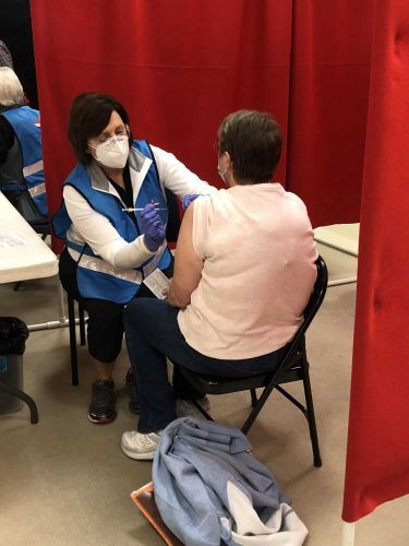 600 people vaccinated at clinic inside Independence Center