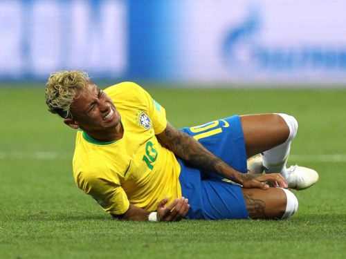 Brazil's talisman striker was fouled more times than any World Cup player in 20 years in their first match