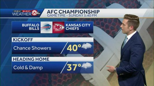 Weather could play factor in AFC Championship game with showers in forecast
