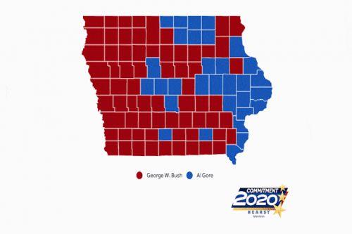 Election Rewind: Iowa maps show past presidential races by county