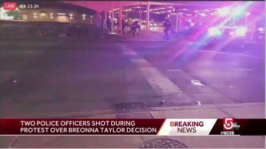 2 Louisville officers shot during protest over Breonna Taylor decision