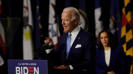 'Keep on marching': Biden & Harris stick to 'stop Trump' message in first public appearance together