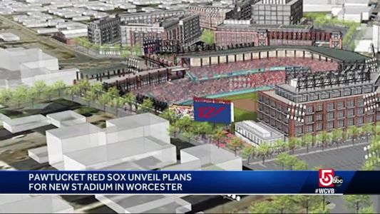 Red Sox unveil plans for PawSox stadium in Worcester