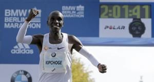 Eliud Kipchoge sets world record in Berlin marathon win