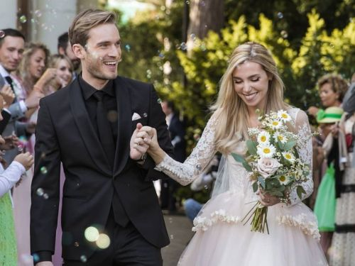 YouTuber PewDiePie got married to his longtime girlfriend - see the photos from their wedding day