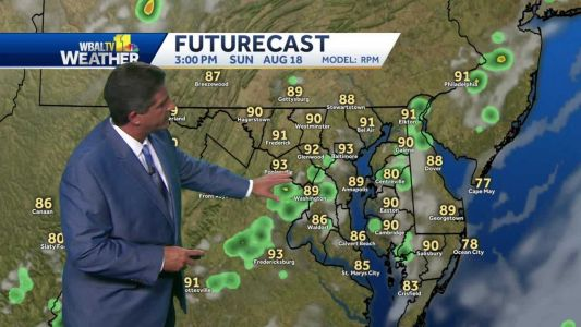 Hot, humid, chance for tstorms Sunday