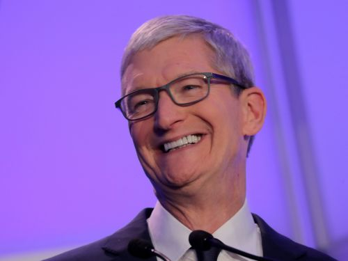 Apple CEO Tim Cook says he is inspired by the story of how an Apple Watch identified a user's clogged heart arteries