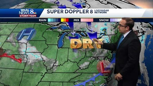 Cooler, Drier Weather Next Couple Of Days