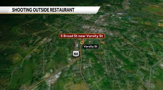 Man flown to hospital after shooting outside restaurant, police say