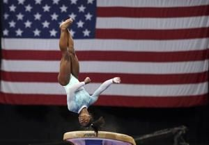 """Biles dresses """"for the survivors"""" while winning 5th US title"""