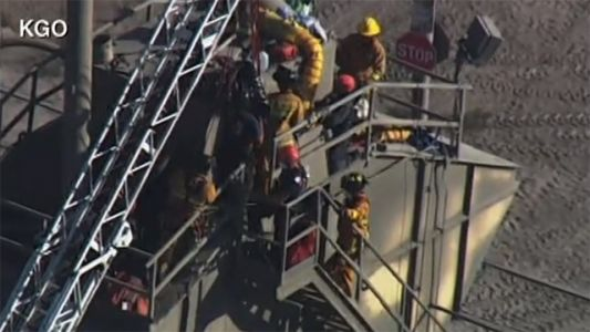 WATCH LIVE: Man stuck in cement mixer, rescue underway in Union City