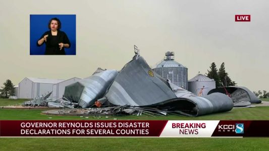 Gov. Kim Reynolds issues emergency proclamation for six counties