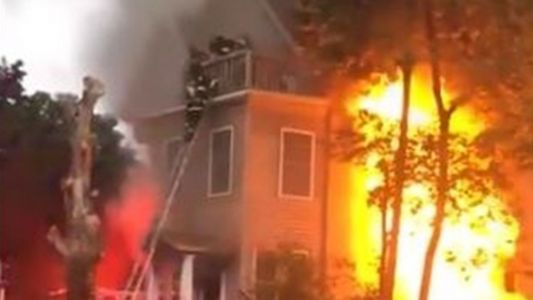 98-year-old, 95-year-old rescued from 3rd floor of burning building