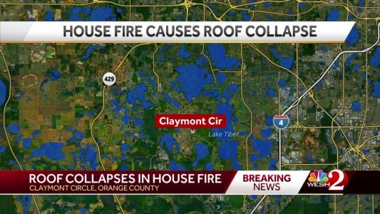 Flames cause roof collapse in Orange County, officials say