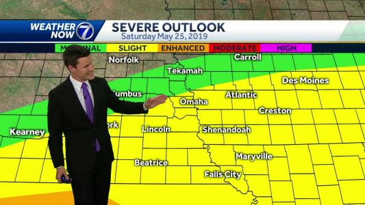 Scattered storms possible Saturday