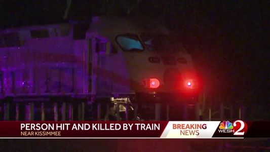 Person hit, killed by train near Kissimmee, officials say