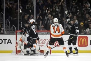 Power play, four-goal first propel Kings past Flyers 5-3