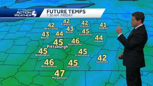 Clouds and spotty showers possible Thanksgiving night
