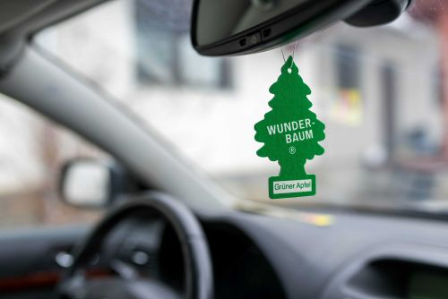 In some states, police can pull you over for hanging an air freshener from your rearview mirror
