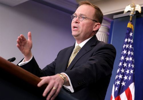 Trump names Mulvaney 'acting' chief of staff