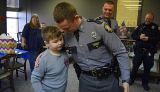 KSP troopers make surprise visit at birthday party of 9-year-old child with autism