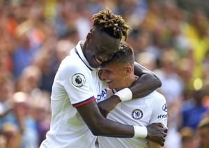 Abraham double leads Chelsea to 1st win under Lampard