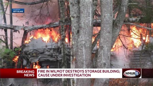 Fire tears through Wilmot warehouse