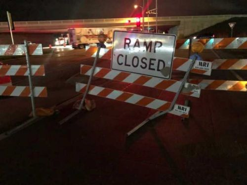 OWI arrest in closed construction zone on I-94 in Racine Co
