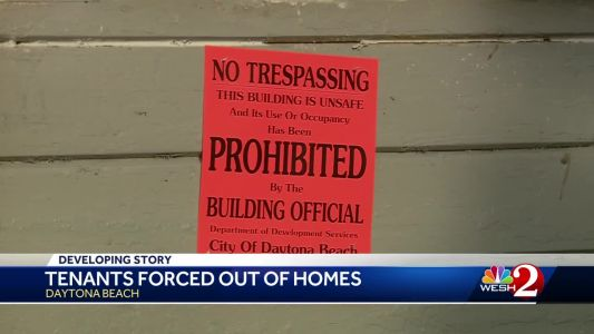 Tenants forced out of homes in Daytona Beach