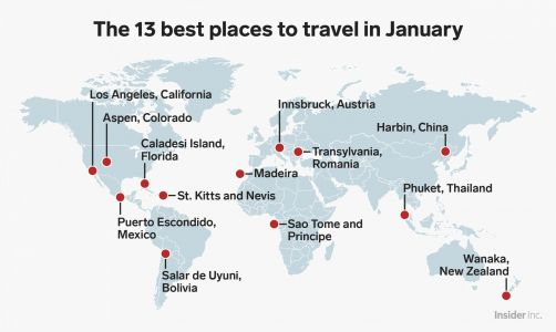 13 places to visit in January for every type of traveler