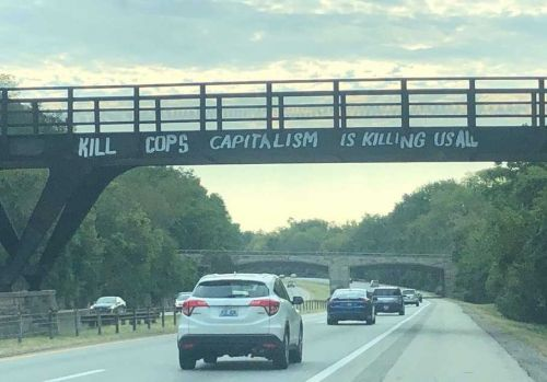 Anti-police graffiti on I-64 leads city leaders to call for support of law enforcement