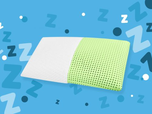 I've used this essential oil-infused memory foam pillow every night for 4 months, and I've never slept better