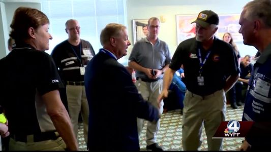 Sen. Lindsey Graham thanks first responders ready to help victims of Florence