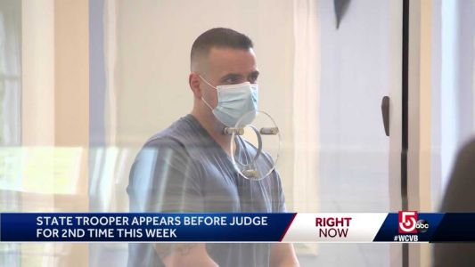 Trooper accused of domestic assault in court again
