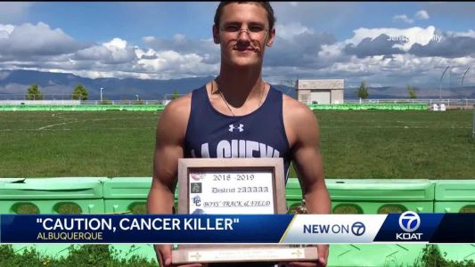 'Caution, Cancer Killer': Outstanding athlete fights cancer, gets back in the game