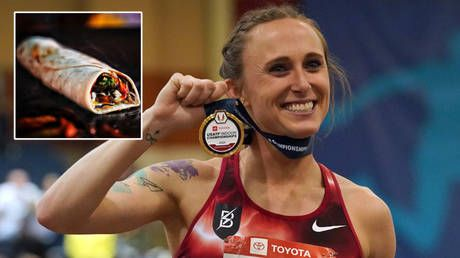 'Lost, broken, angry, confused and betrayed': US record holder blames pork burrito on failed drugs test and four-year running ban