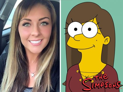 Meet Sam Skinner, a self-taught artist who drew herself in the style of 50 cartoon characters